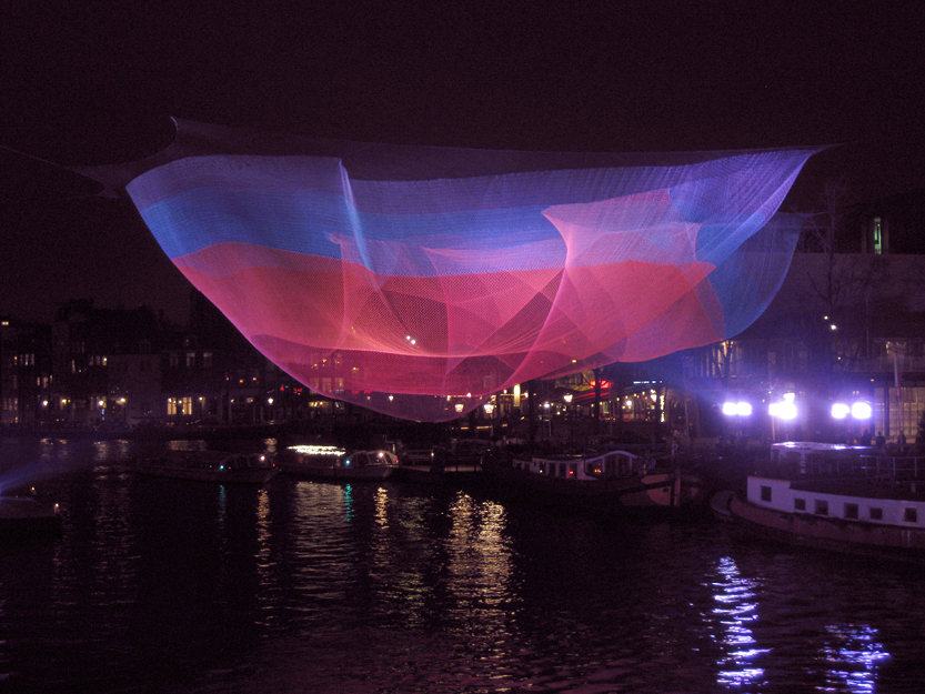 Aurora by Janet Echelman – Amsterdam Light Festival