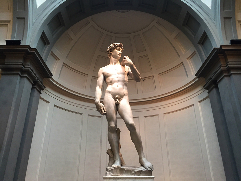 David by Michelangelo, Galleria dell'Accademia – Florence