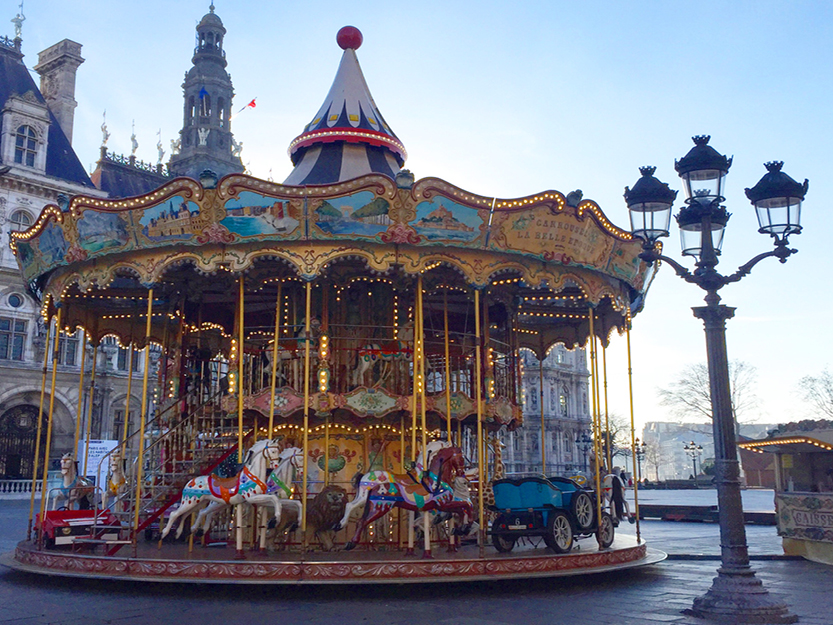 Carousel at Place de l'Hôtel-de-Ville – Paris