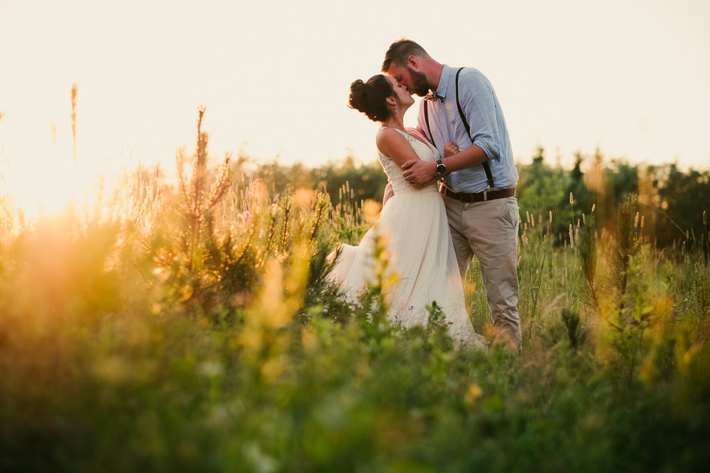 A backyard wedding in Inkerman New Brunswick