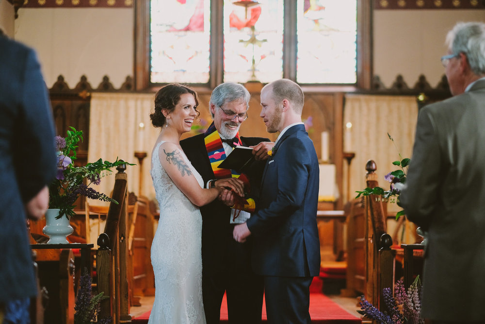 An intimate wedding in the heart of Bridgetown, Nova Scotia. Photographed by Halifax wedding photographer Evan McMaster.