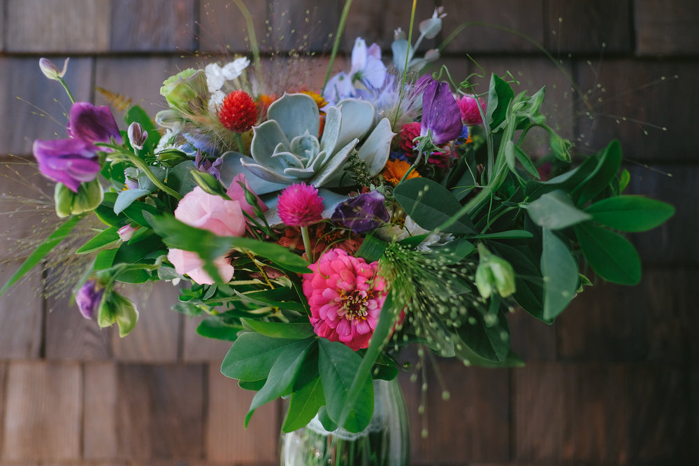 Although not tied to Sara & Alek's visit, this bouquet is another example of what Denise is able to craft. These blooms were picked mid-September. The gallery below offers a larger selection of photos captured at the same wedding.