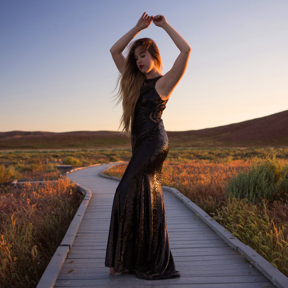 walk the golden path ~ Dress by Madison James