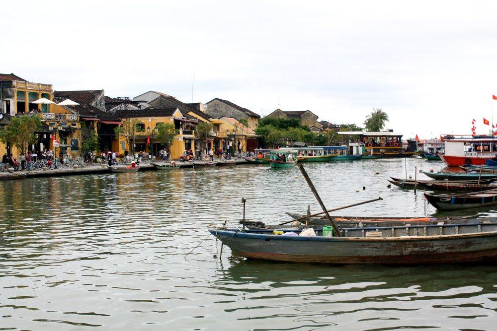 Hoi An River Vietnam Gluten free MY BF is GF