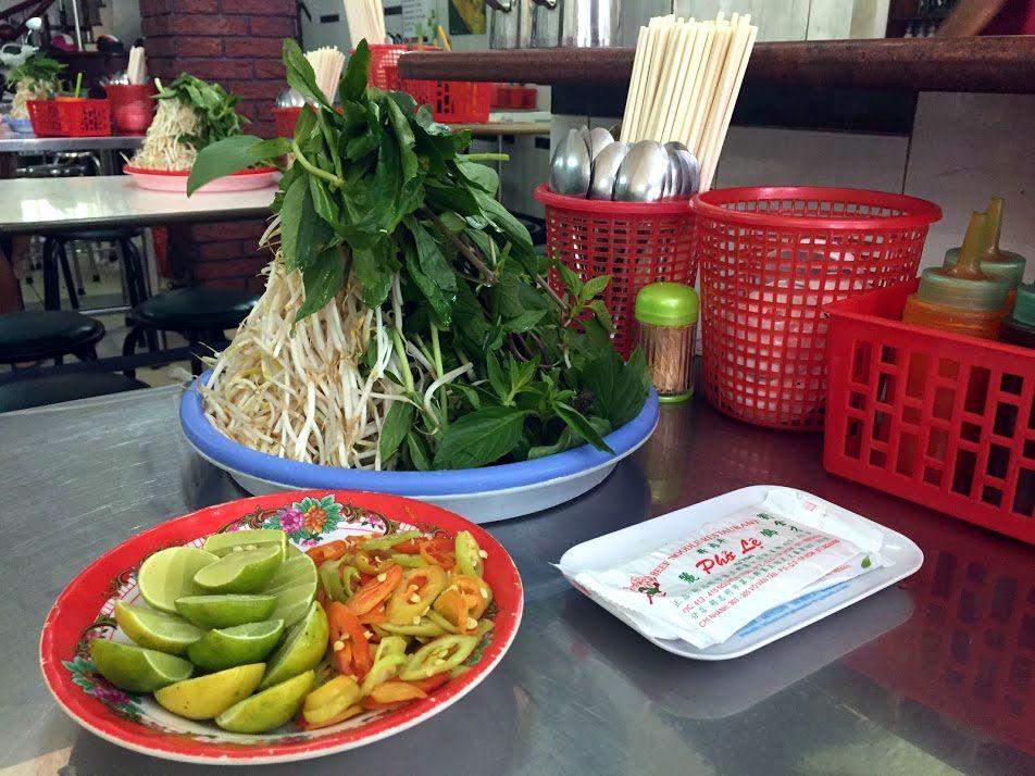 Saigon Ho Chi Minh Pho Herbs Vietnam My BF is GF Gluten free