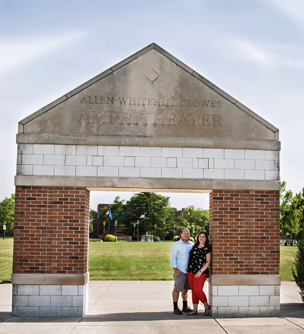 Summer Engagement session at Marian University Indiana