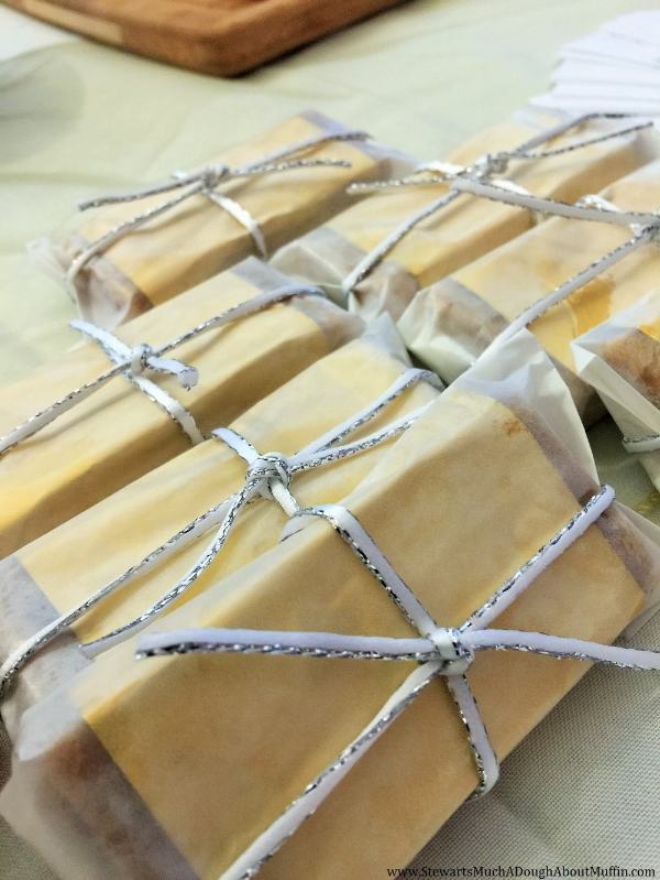 Highland Cream Gold Bar Wedding Favors...