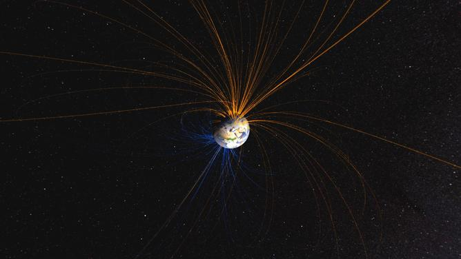 The Earth's magnetic field.   - Image Credit:    NASA/Flicr