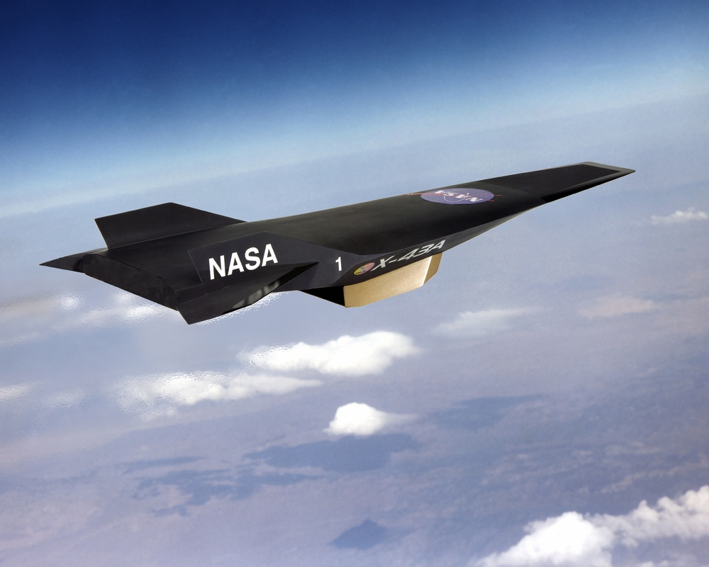 An artist's conception of the X-43A spaceplane in flight - Image Credit:  NASA/WikimediaCommons