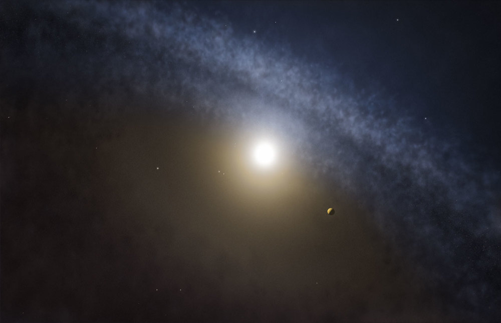 Artist's impression of a transitional disc around a young star - Image Credit: ESO