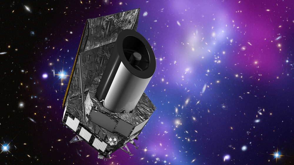 Artist's impression of the Euclid spacecraft, a dark energy and dark matter mission planned for launch in 2020. Image Credit: ESA/C. Carreau