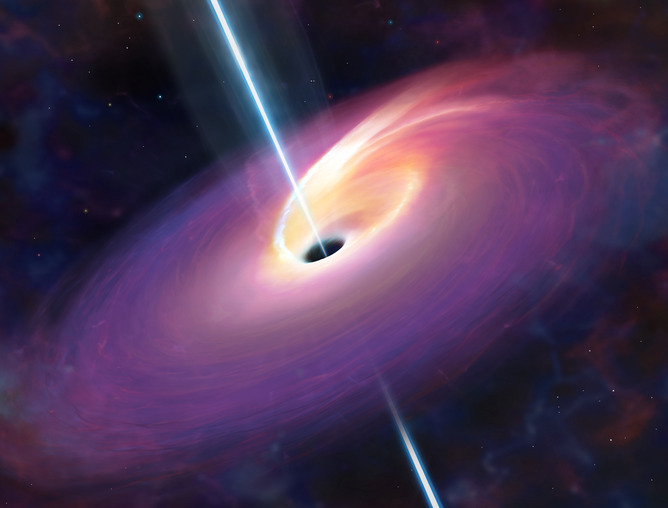 When a black hole devours a nearby star, bright gamma-ray flashes can result - Image Credit: Mark Garlick, University of Warwick
