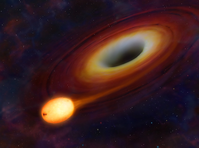 A star will tend to come off second best from a brush with a black hole - Image Credit: Mark Garlick (University of Warwick)