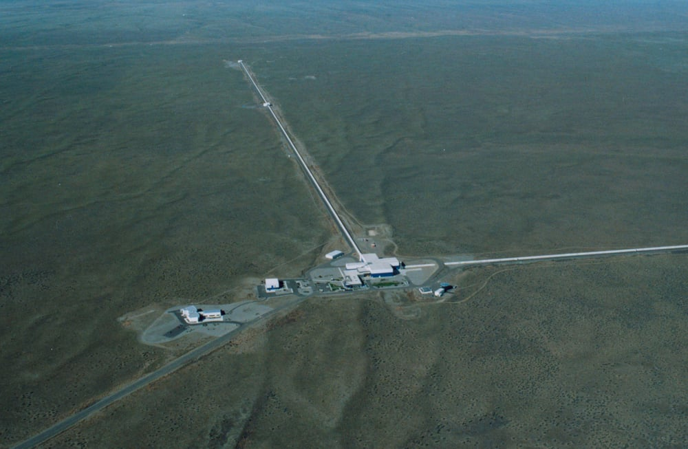 The LIGO observatory at Livingston, Louisiane - Image Credit: Caltech