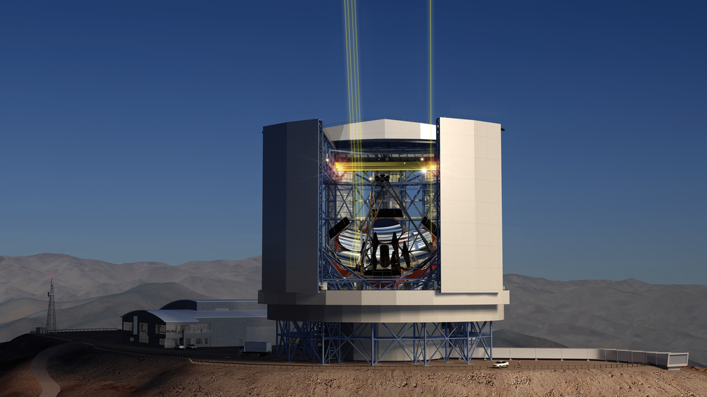 The Giant Magellan Telescope as it will look after construction on Cerro Las Campanas in Chile. – Image Credit:  Giant Magellan Telescope – GMTO Corporation