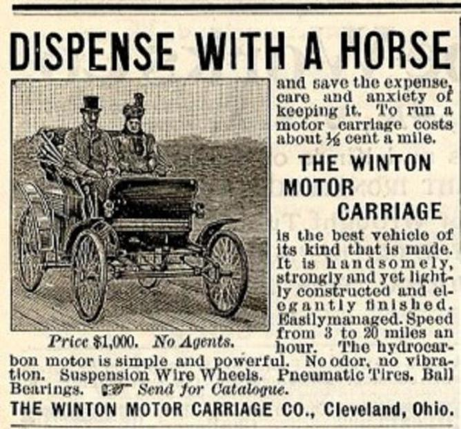 Are today's drivers yesterday's horses? - Image Credit: Winton Motor Carriage Company