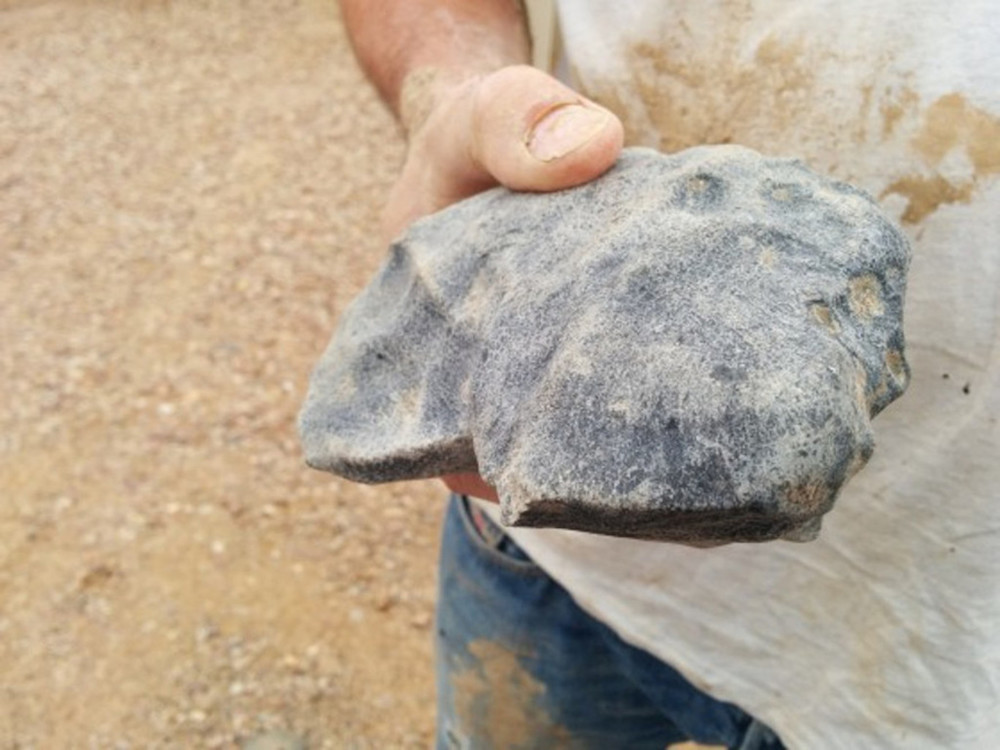 The 1.6kg meteorite close up. Desert Fireball Network, Curtin University, Author provided