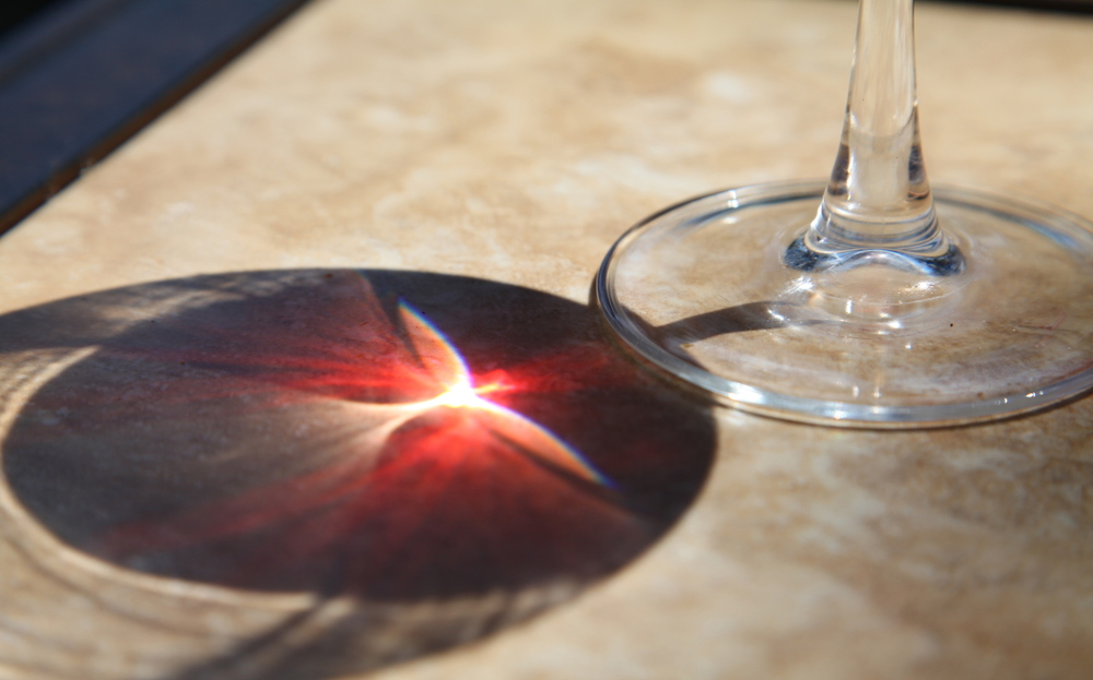 Note the pattern of sunlight through the wine glass - Image Credit: John Melancon/Flickr
