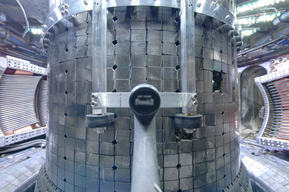 A view inside the Alcator C-Mod tokamak - Courtecy of the Plasma Science and Fusion Center/MIT