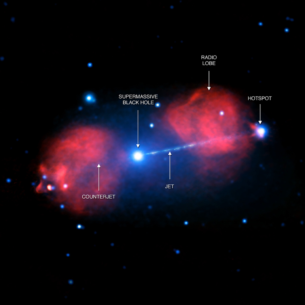 Image Credit: X-ray: NASA/CXC/Univ. of Hertfordshire/M. Hardcastle et al.; Radio: CSIRO/ATNF/ATCA