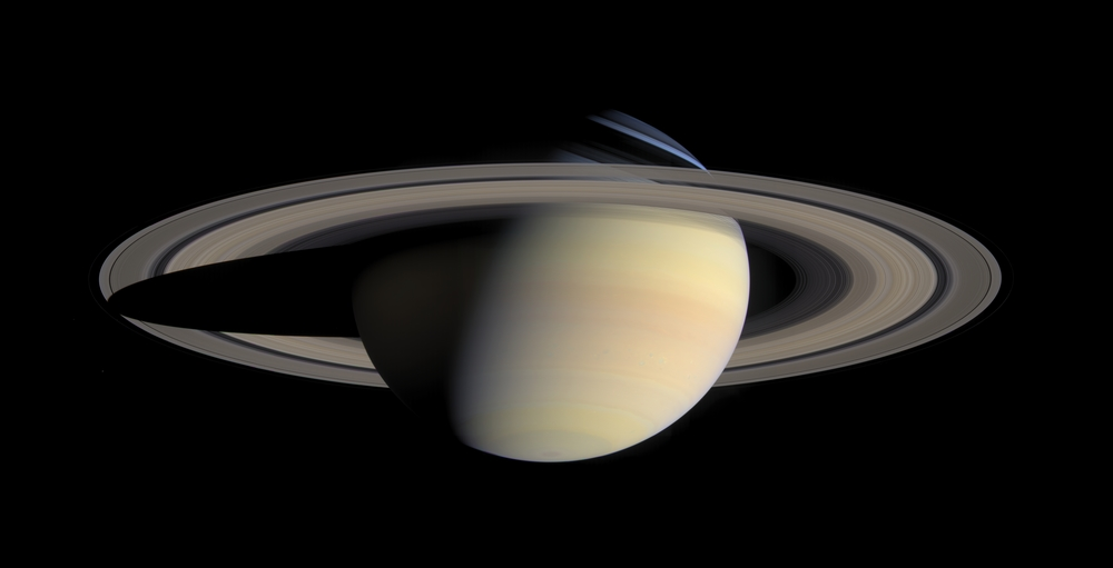 The B ring is the brightest of Saturn's rings when viewed in reflected sunlight. - Image Credits: NASA/JPL-Caltech/Space Science Institute