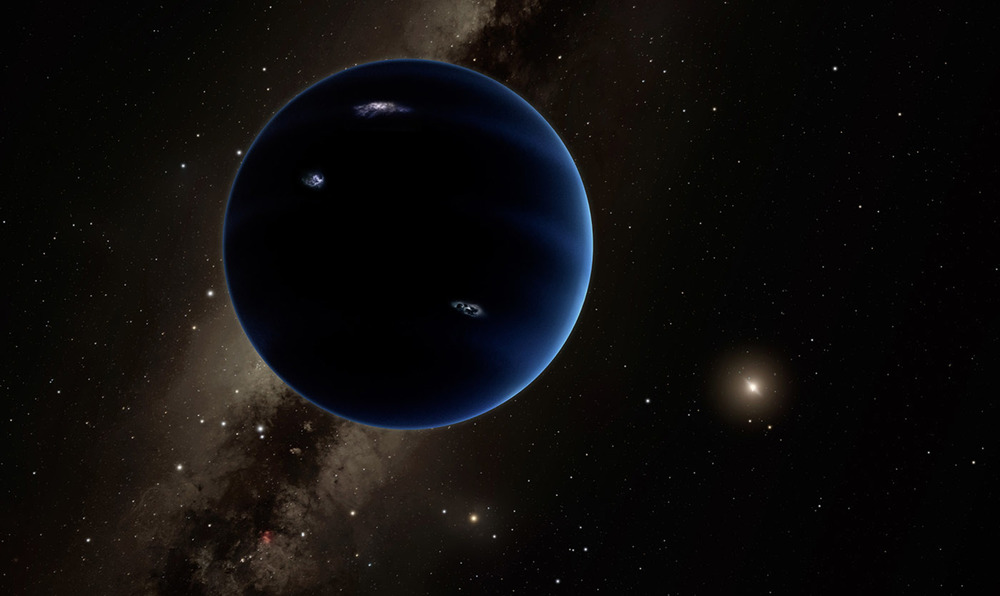 Artist's impression: The distant view from Planet Nine back towards the sun. - Image Credti:Caltech/R. Hurt (IPAC)