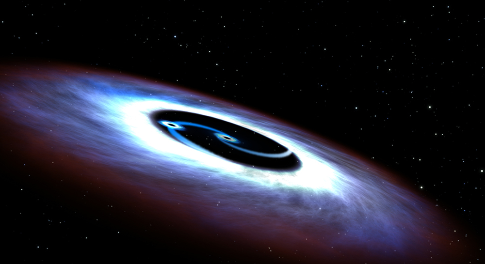 Binary black holes come in a variety of forms, but they are all astounding. - Image Credit: NASA, ESA, and G. Bacon (STScI)