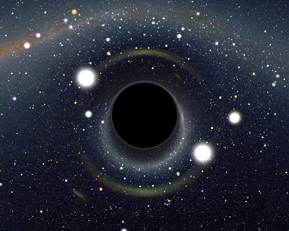 Gravitational waves can give direct evidence of the existence of black holes. - Image Credit: Alain Riazuelo, IAP/UPMC/CNRS