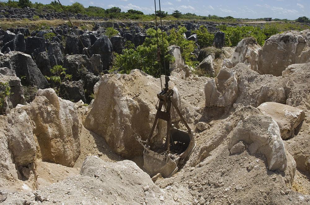 Mining of phosphate rock in Nauru in the Pacific Ocean - Image Credit:Lorrie Graham/AusAID