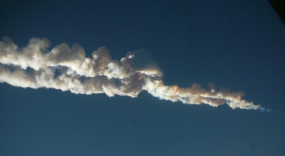 Chelyabinsk meteor. - Image Credit:Nikita Plekhanov/wikimedia