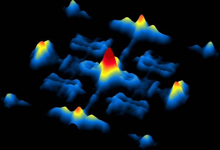 Three-dimensional image using scanning tunneling electron microscopy of electrons on the surface of a Weyl semi-metal, a kind of crystal with unusual conducting and insulating properties. - Image credit: Yazdani et al., Princeton University.