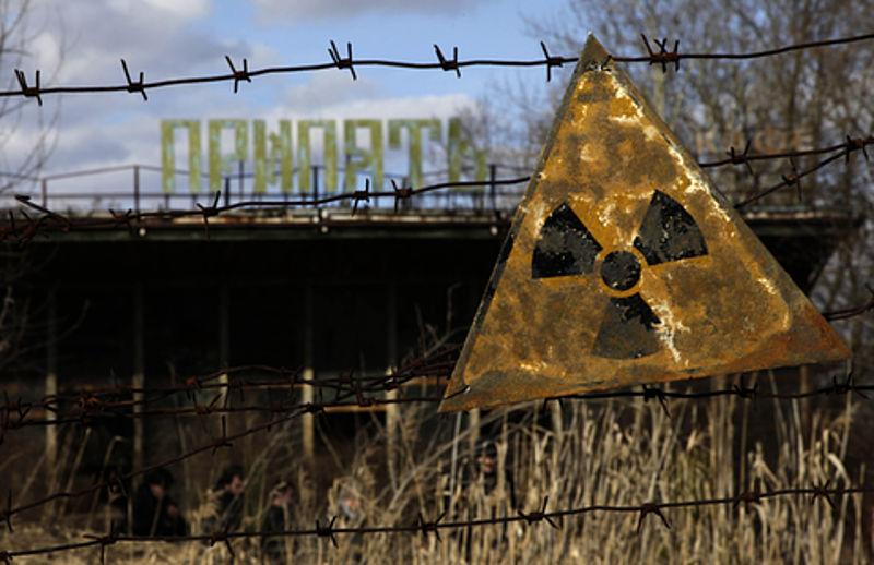 Chernobyl sign. - Image credit:D. Markosian/wikimedia