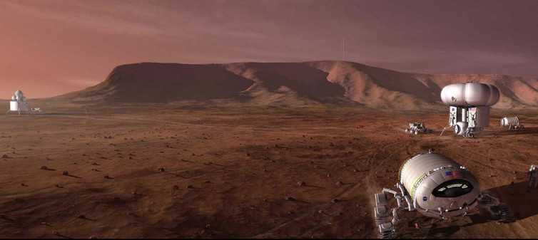 Humans on Mars. - Image Credit: NASA