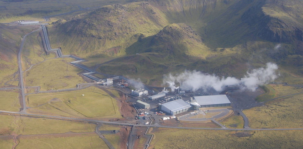 Iceland's geothermal power plants are an ideal place to test pumping carbon dioxide underground. Dom Wolff-Boenisch, Author provided