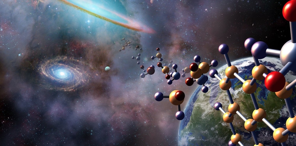 The molecules that make up life may have arrived from space, and many are chiral - Image Credit: NASA / Jenny Mottar