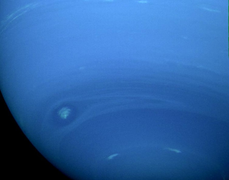 A natural colour view of Neptune by NASA's Voyager 2. – Image Credit:  NASA/JPL