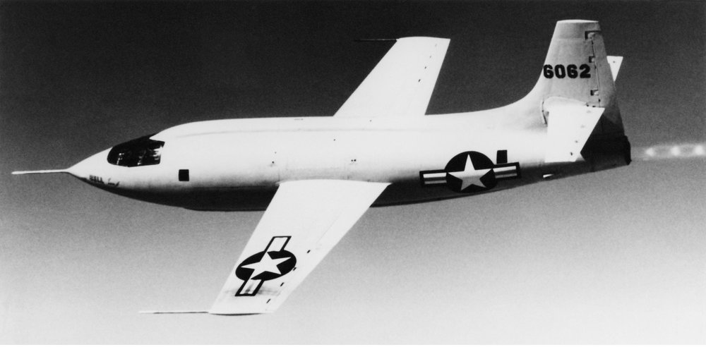 "The Bell X-1, in which Chuck Yeager ""broke"" the sound barrier in 1947. - Image Credit: NASA"