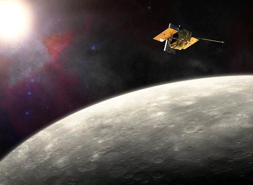 The MESSENGER spacecraft has been in orbit around Mercury since March 2011. - Image Credit: NASA/JHU APL/Carnegie Institution of Washington