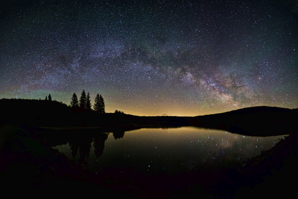 The Milky Way as seen from Earth – Image Credit:  Flickr/Peter Ozdzynski  ,  CC BY-SA