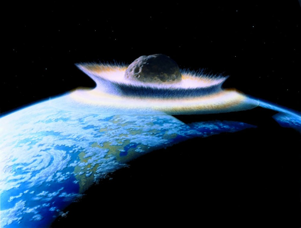 A huge asteroid impacting Earth would be catastrophic, but we may face a greater danger from more numerous, smaller asteroids - Image Credit: Donald Davis/WikimediaCommons