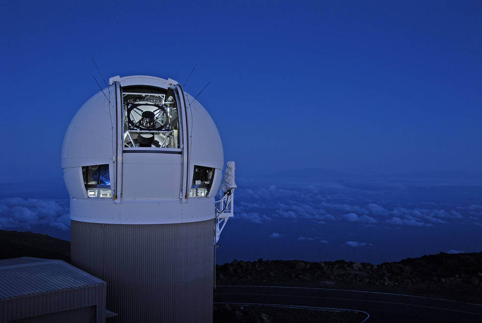 The Pan STARRS telescope in Hawaii – Image Credit:  Charly W. Karl/Flickr