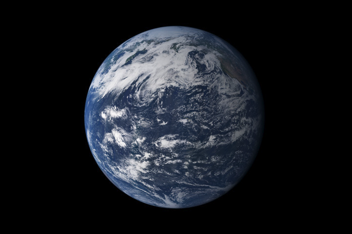 Earth, seen from space, above the Pacific Ocean. - Image Credit: NASA