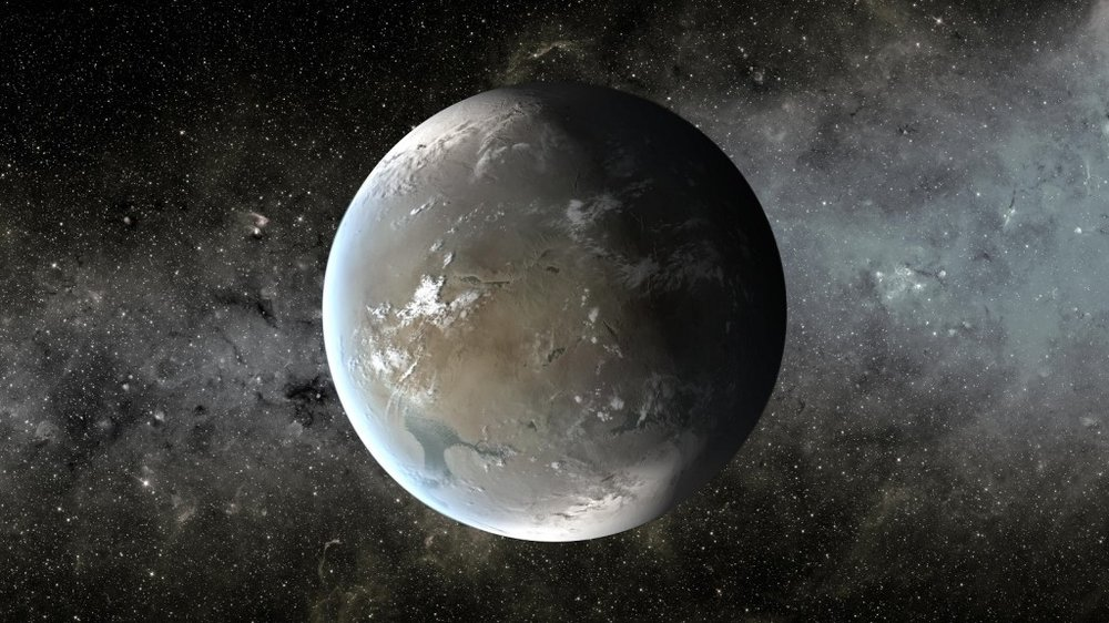 Artists impression of a Super-Earth, a class of planet that has many times the mass of Earth, but less than a Uranus or Neptune-sized planet. – Image Credit: NASA/Ames/JPL-Caltech