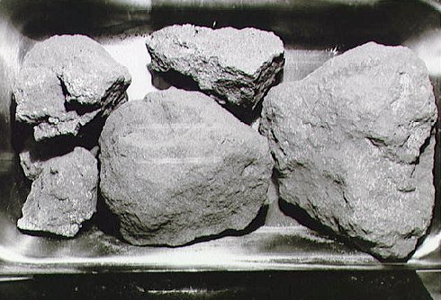 Moon rocks from the Apollo 11 mission. - Image Credit: NASA