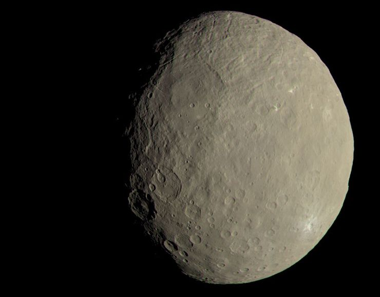 This image of Ceres approximates how the dwarf planet's colors would appear to the eye. - Image Credit: NASA/JPL-Caltech/UCLA/MPS/DLR/IDA