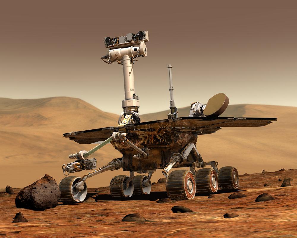 Artist Concept, Mars Exploration Rovers. - Image Credit: NASA/JPL-Caltech