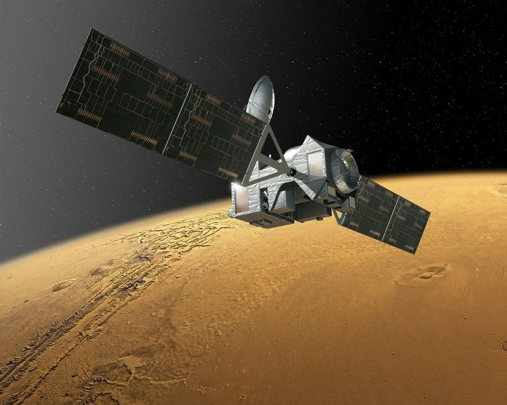 The European/Russian ExoMars Trace Gas Orbiter (TGO) will sniff the Martian atmosphere for signs of methane which could originate for either biological or geological mechanisms. - image Credit: ESA