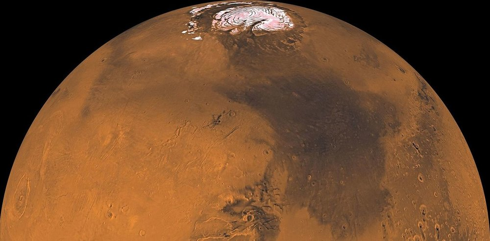 Mars seen by the Viking oriter. - Image Credit: NASA/JPL/USGS