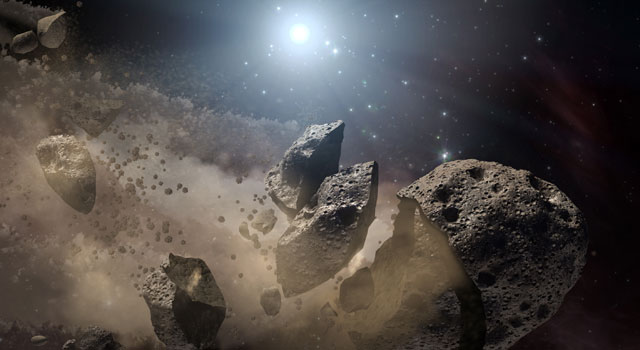 The Asteroid Belt lies at a distance of 1.2 to 2.2 AUs from Earth. So how long would it take to send exploration and mining missions there? - Image Credit: NASA/JPL-Caltech