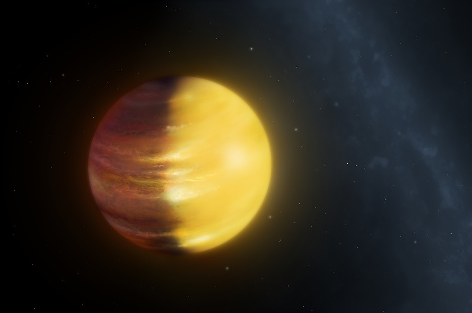 Mysterious gas giant is about 1,000 light years away. Mark Garlick/University of Warwick., Author provided